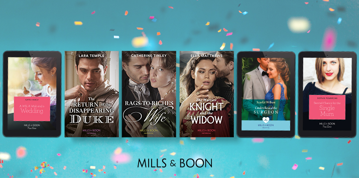 Announcing Mills & Boon's shortlisted books for the Romantic Novel Awards 2021