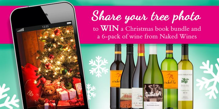Share your Christmas Tree photo to win a book bundle and a 6-pack of wine from Naked Wines