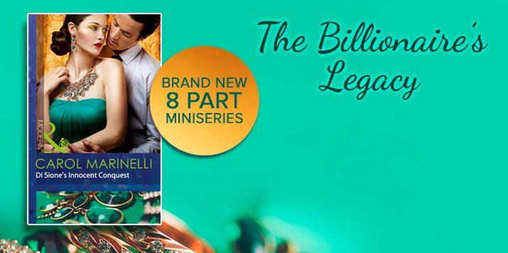 Carol Marinelli introduces The Billionaire's Legacy series
