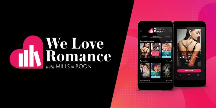 We Love Romance, a brand new eBook subscription app powered by Mills & Boon