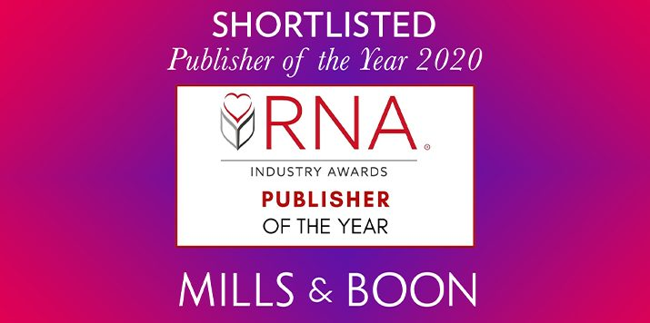 Mills & Boon shortlisted for Publisher of the Year 2020!