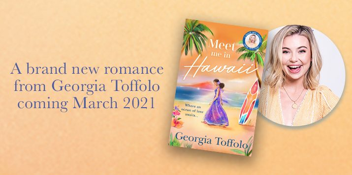 Georgia Toffolo reveals the cover to Meet Me in Hawaii!